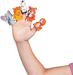 Fun Express - Jungle Animal Finger Puppets - Toys - Character Toys - Finger Puppets - 24 Pieces