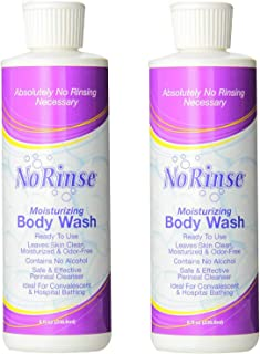No-Rinse Body Wash, 8 fl oz - Leaves Skin Clean, Moisturized and Odor-Free (Pack of 2)