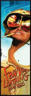Fear and Loathing in Las Vegas Dark Comedy Drug Movie Film Framed Poster Print 12x36