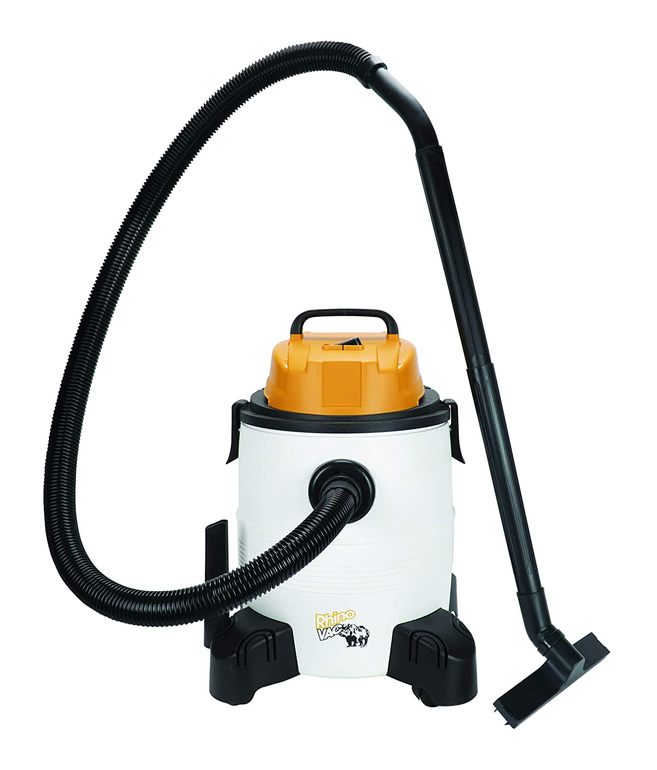 Rhino Vac Portable Wet & Dry Shop Vacuum, 8 gal, Swivel Casters/Wheels, Accessories & Blower