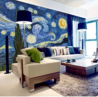 hhlwl Custom 3D Photo Wallpaper Classic Oil Painting Starry Sky Abstract Art Wall Painting Living Room Background Home Dec...