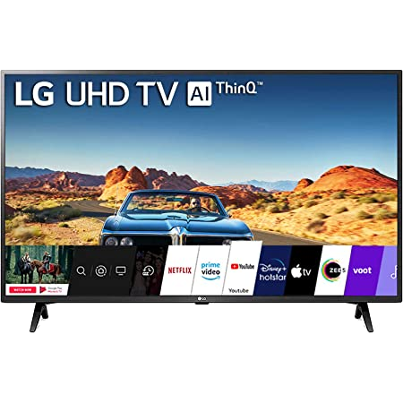 LG 108 cm (43 inches) 4K Ultra HD Smart LED TV 43UM7290PTF (Ceramic Black)