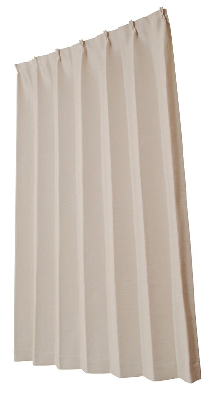 人口ミルク屋内でユニベール 遮光ドレープカーテン コローレ アイボリー 幅150× 丈178cm 1枚