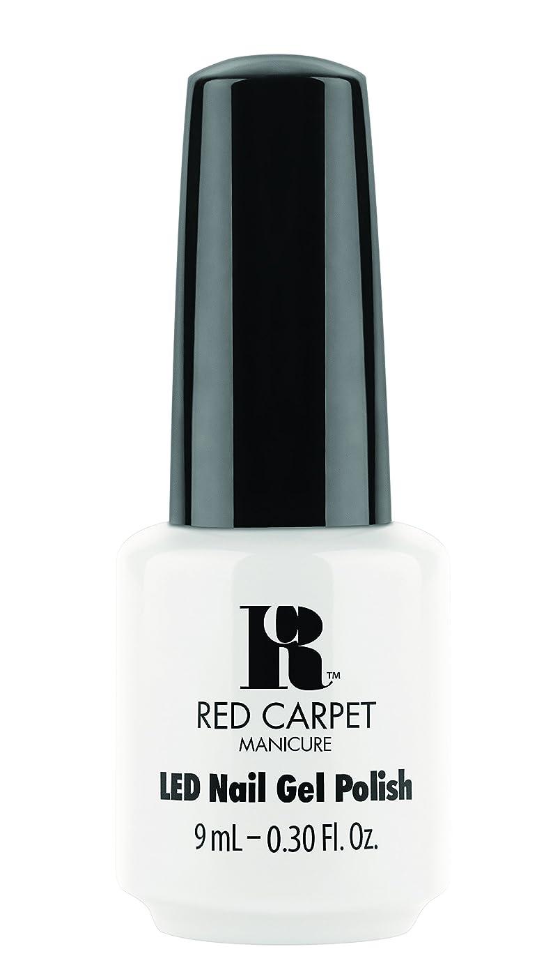 接尾辞風邪をひく病者Red Carpet Manicure - LED Nail Gel Polish - White Hot - 0.3oz / 9ml
