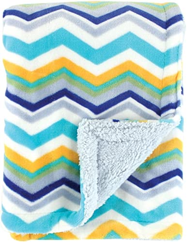 Hudson Baby Double Layer Blanket, Blue, One Size