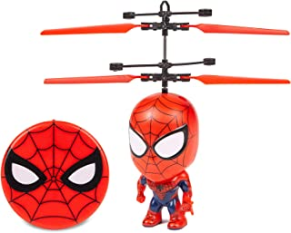 Spider-Man 3.5 Inch Flying Figure IR UFO Big Head Remote Control Marvel Helicopter