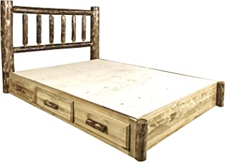Montana Woodworks Glacier Country Collection Platform Bed with Storage, Queen
