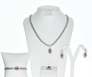 Fancy Silver Set with Shiny Stones 32534.1
