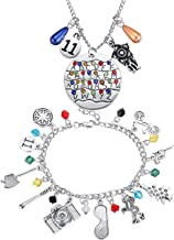 Stranger Things Necklace Keychain Bracelets ST Merchandise Charm Jewelry Alphabet Light Halloween Cosplay Jewelry for Girl...