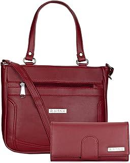 Aisna Women's Combo Handbag and Clutch(Set of 2)