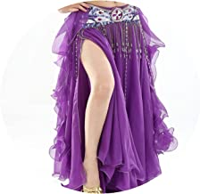 Belly Dancing Clothing Long Maxi Skirts Lady Belly Dance Skirts Women Sexy,Dark Purple,One Size