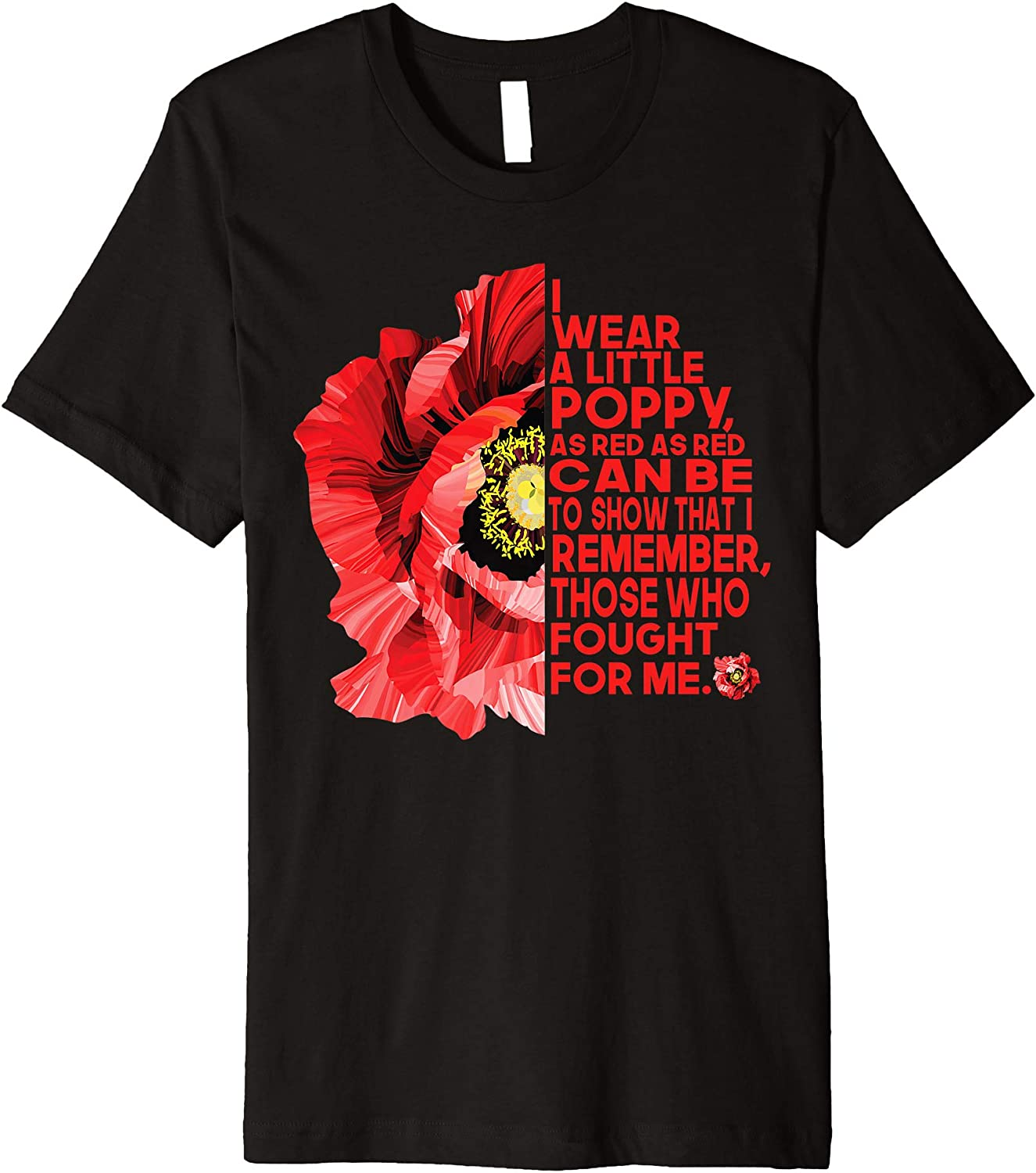 Red Poppies Field Mens Cotton Blend T-Shirt