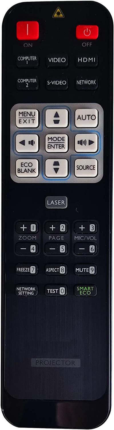INTECHING 5J.J6R06.001 Projector Remote Control for BenQ MP780ST, MP780ST+, MW721, MW767, MW820ST, MW853UST, MW853UST+, MW860USTi, MX717, MX720, MX750, MX763, MX764, MX766, MX819ST, MX822ST, MX852UST+
