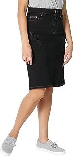 Krisp Women Denim Skirt Classic Stretch Pencil A-Line Office Skirts