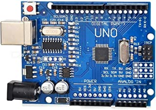 Arduino UNO R3 Board ATmega328P Microcontroller Card & USB Cable for for Electronics & Robotics