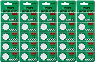 LWHN 25 Pack CR2016 Battery 3V Lithium CR 2016