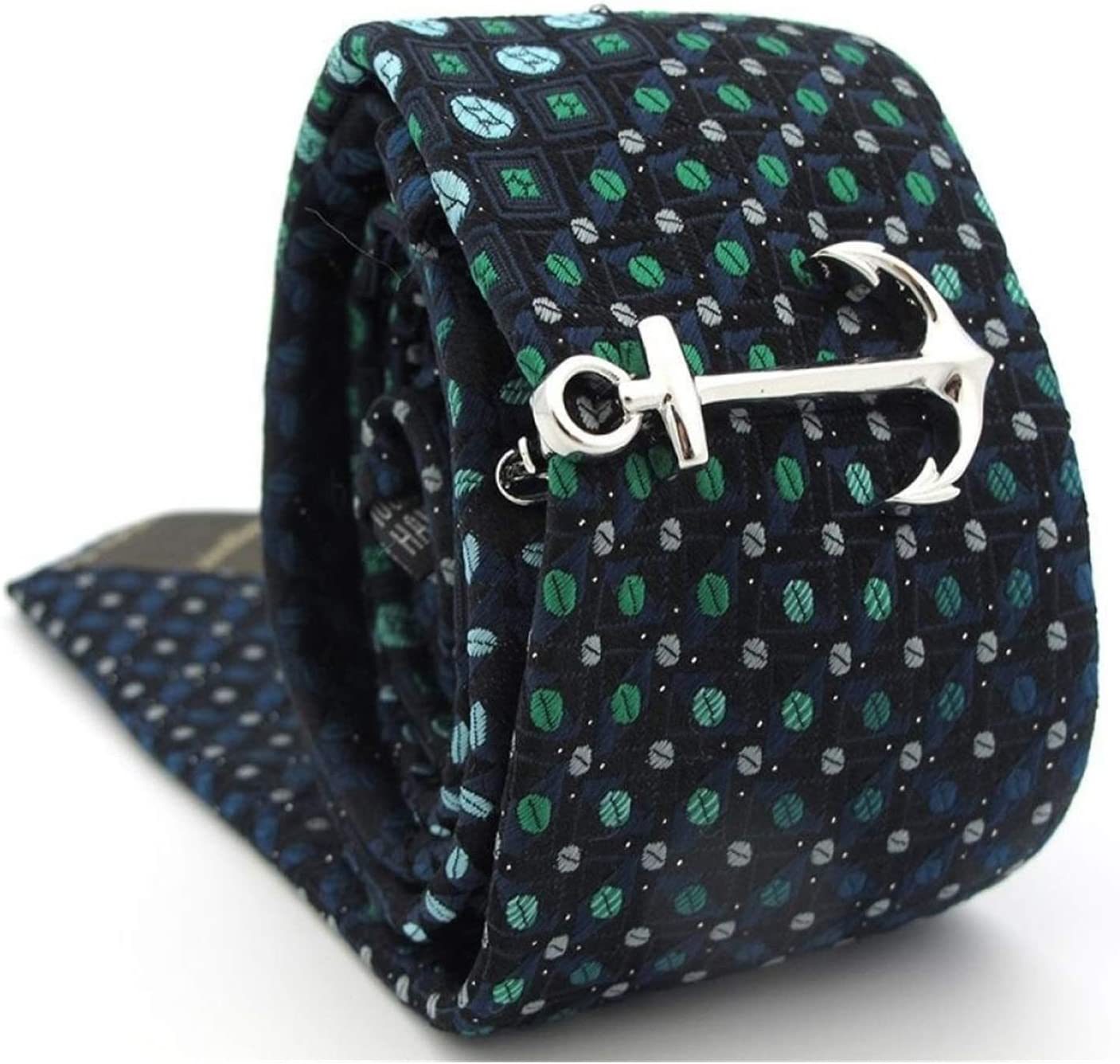 XIXINYA Men's Tie Clip Anchor Tie Clip Arrow Clip Men's Cufflinks Cufflinks Men's Gift Set Cufflinks Kit Cufflinks (Color : D)