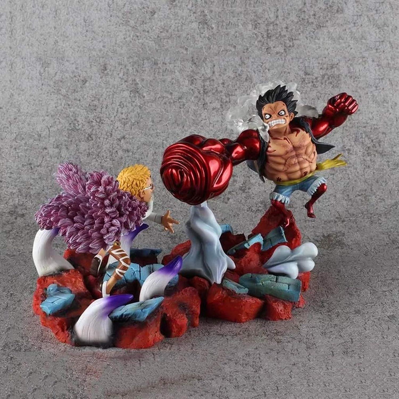 SHWSM Rufy & Doflamingo, Anime modellolo di Un Pezzo, Collezione di Giocattoli for Bambini Statua, Decorazione del Desktop giocattolo giocattolo giocattolo modello PVC (19cm)