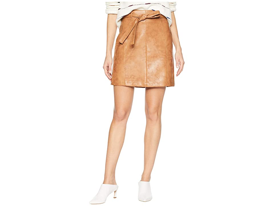 BCBGeneration Belted Mini Pencil Skirt (Cognac) Women