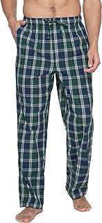 LAPASA Men's Plaid 100% Cotton Loungewear Pyjama Pants Flannel/Woven Nightwear Trousers M38, M39