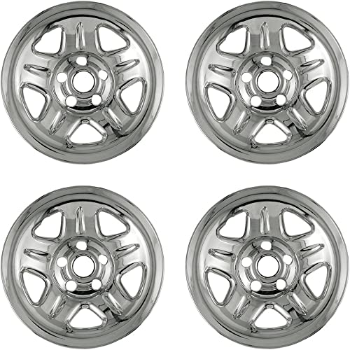 new arrival 15 inch sale Hubcap Wheel Skins for 2010-2011 Jeep Cherokee-(Set of 4) Wheel Covers- Car sale Accessories for 15inch Chrome Wheels- Auto Tire Replacement Exterior Cap Cover online