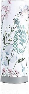 Pauleen 48004 sobremesa Flowery Romance máx. 20W E14 Lámpara para mesita de Noche Blanco, Verde, Rosa, Azul Tela/hormigón sin Bombilla