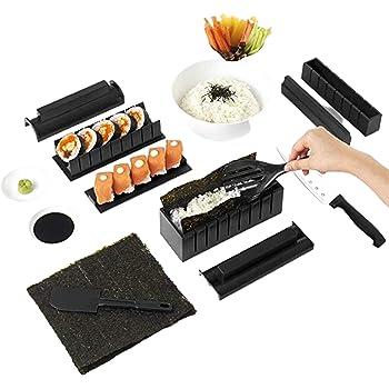 Kit Para Hacer Sushi- Kit Sushi- Kit Sushi Completo + Ebook 50 Recetas Ofrecidas - 11 Piezas -