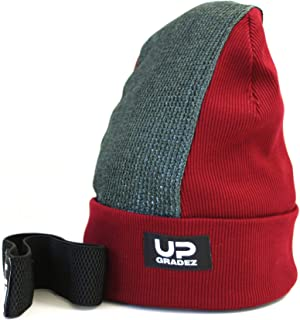 Upgradez Headspin Beanies for Breakdance with Removable pad (Bordeaux, Adult spincap)