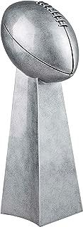Silver Football Tower Trophy - Fantasy Football FFL Award - 14 Inch Tall - Decade Awards (14 Inch Tall)