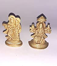 2 God Idol Radha Krishna Statue Standing Under Materials Solid Brass Hindu God Lord Ganesha Statue Handmade Brass Religiou...