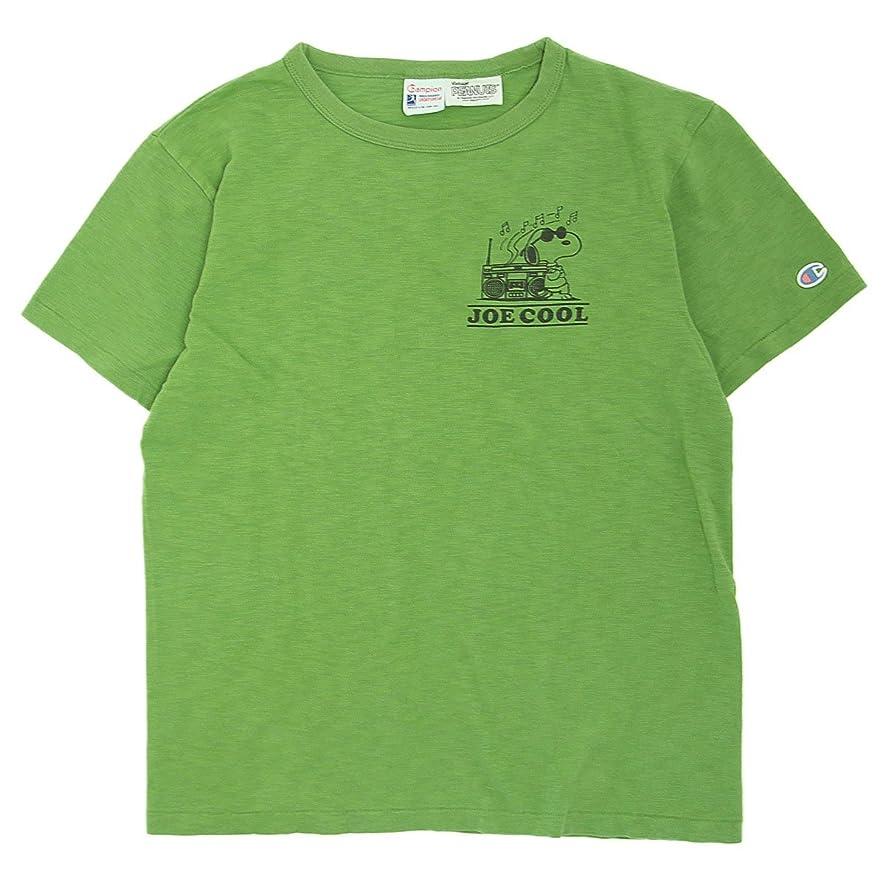 熱意優雅な風変わりな(チャンピオン) Champion ROCHESTER x Vintage PEANUTS スヌーピーTシャツ コラボ 国内正規品 ライトグリーン C9-M303-520