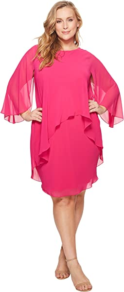 LAUREN Ralph Lauren Plus Size Apollonia Georgette Dress