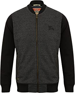 Mens Sweatshirt Tokyo Laundry Baseball Style Varsity Top Zip Casual Winter New