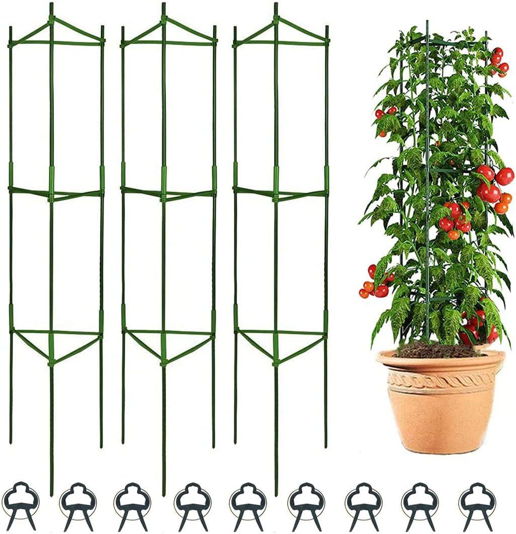 Derlights Tomato Cages Deformable 3Pack Supports Plant Ca Alternative dealer Sale item