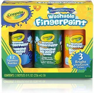 Crayola Washable Finger Paint, Multi-Colour, 8 oz, Cy55-1311