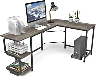 small home office desk with hutch