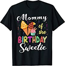 Ice Cream Cones Mommy Of The Birthday Sweetie Party Tee T-Shirt