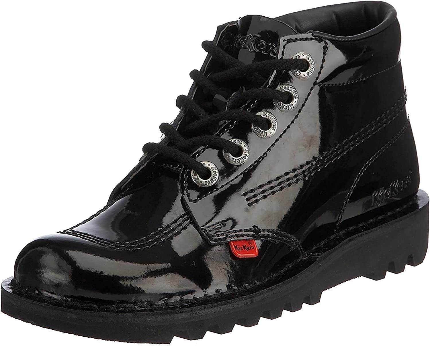 Kickers Kick Hi Max 77% OFF Black Ankle Patent Ranking integrated 1st place Boots Adult