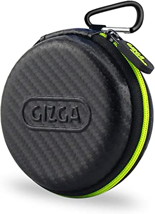 Gizga Multi Purpose Pocket Storage Travel Organizer Case for Earphone, Pen Drives, Memory Card, Data Cable - Carbon Fibre (Black/Green)