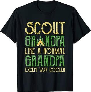 Scout Grandpa T Shirt Cub Leader Boy Camping Hiking Scouting