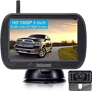 DoHonest V25 HD 1080P Digital Wireless Backup Camera System 5 Inch TFT Monitor for Trucks,Cars,SUVs,Pickups,Vans,Campers F...