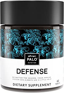 Defense | Immune Support ( 60ea)-All Natural Supplement. Immune System Booster with Vitamin C, Zinc and Botanicals (Including Elderberry, Echinacea) Activate Your Health & Wellness |By PALO Nutrition