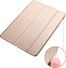 Dyasge Soft TPU Bumper Case with Stand for iPad Air 2 Tablet,Champagne Gold