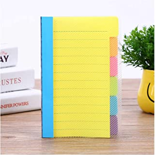 Sticky Notes Set with Bookmark,Tabbed Self-Stick Lined Note Pad,Assorted Neon Colors,97 * 150mm, 60 Ruled Notes,Index for ...