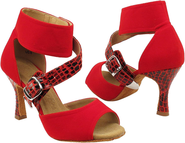 GP 50 Shades SERA7015 Dance Evening Dress shoes Red, 3  Heel, Size 8 1 2