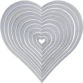 Scrapbooking Cœur Amour Cutting Dies Matrices de Découpe Découpage Pochoirs Bricolage Album Mariage Décoration Papier Cart...