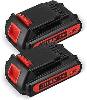 Batería de ion de litio de 2500 mAh y 20 voltios MAX LBX20 Reemplazar para batería de litio Black+Decker 20 V Max LBXR20 LBX20 LBXR20-OPE LBX4020 LB2X4020-OPE Black Decker de 20 V