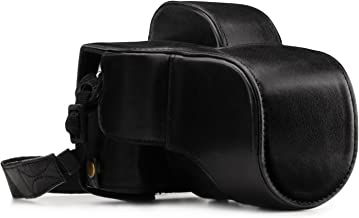 Megagear MG1339 Ever Ready Genuine Leather Camera Case & Strap for Fujifilm X-E3 (23mm & 18-55mm) with Battery Access, Black
