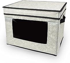 DII Blanket Closet Storage Bin Perfect for Cloths, Crafts, Photos, or Knick Knacks, 10x11x15 - Damask