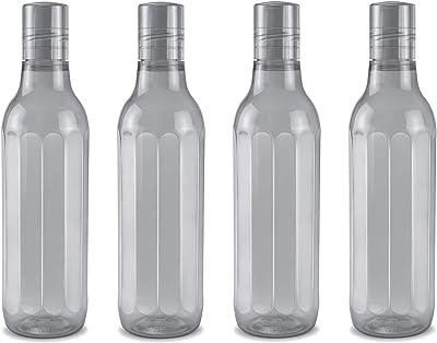 Milton Prism Pet Water Bottle, Set of 4, 1000 ml, Grey